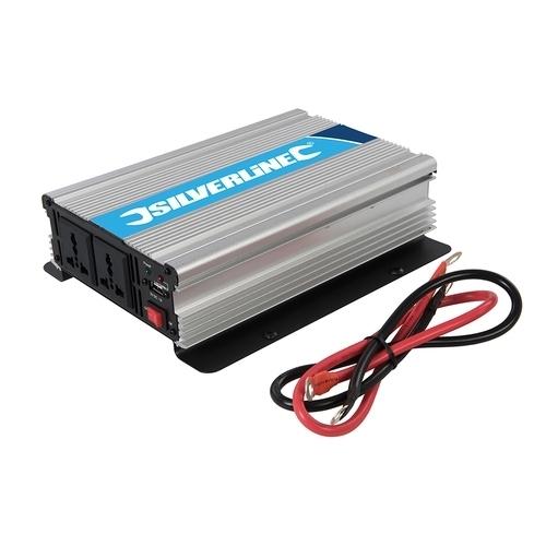 Silverline 12V Inverter – 1000W (2 x 500W)