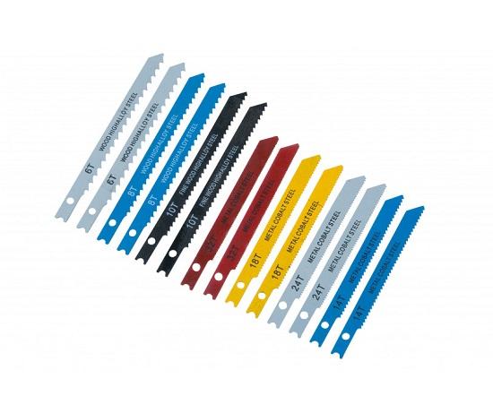 BlueSpot 14 Pce Jigsaw Blade Set