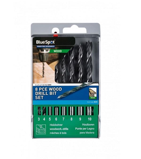 Blue Spot 8PCE Wood Drill Set