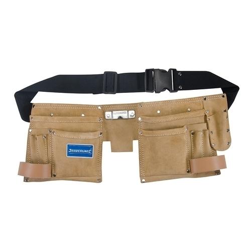 Silverline Double Pouch Tool Belt 11 Pocket
