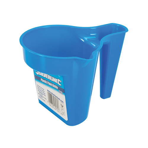 Silverline Plastic Paint Kettle with brush rest – 600ml