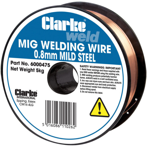 Clarke Mild Steel Welding Wire 0.8mm Large 5kg Spool