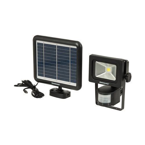 Silverline COB LED Solar-Powered PIR Floodlight