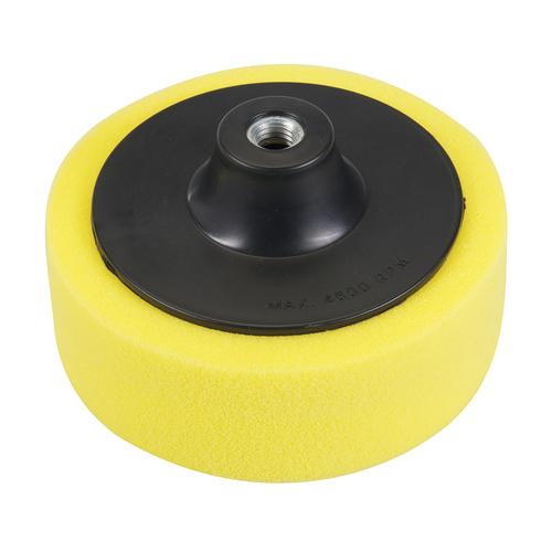 Silverline M14 Foam Polishing Head 150mm Coarse Yellow