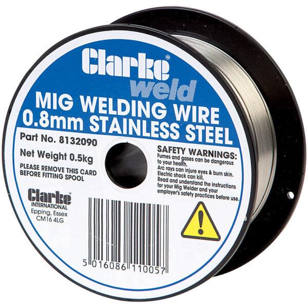 Clarke MIG Stainless Steel Welding Wire 0.8mm