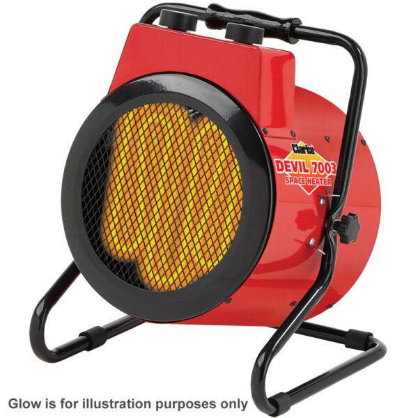 Clarke Devil 7003 3kW Industrial Electric Fan Heater (230V)