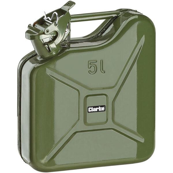 Clarke JC5LG 5 Litre Fuel Can (Green)