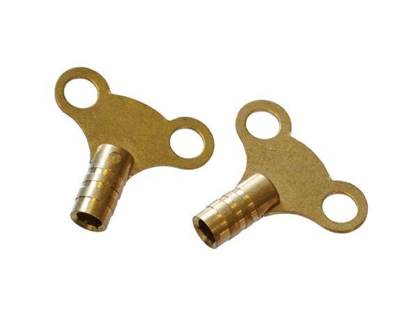 Toolzone Radiator Keys – Brass (Pack of 2)