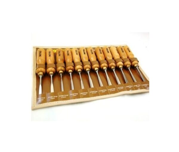 Toolzone 12Pc Professional Hi Quality Carving Chisel Set