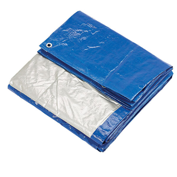 Clarke 6ft x 8ft Blue & Silver Polyethylene Tarpaulin